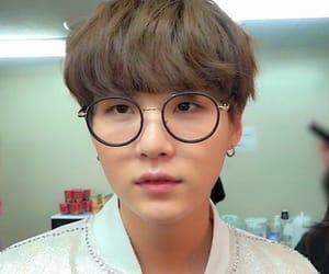 glasses, kpop, and selca image