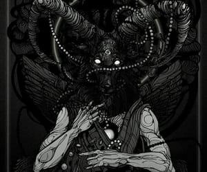 art, black, and evil image