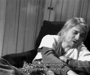 kurt cobain, drugs, and nirvana image