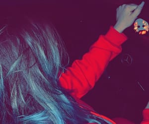 blue hair, driving, and mercedes benz image