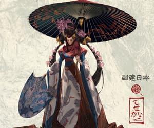 character, geisha, and feudal image