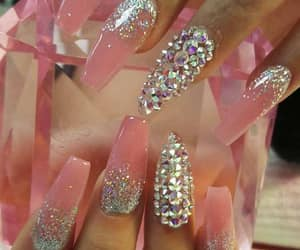 coffin, matte, and nails done image