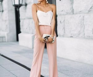 outfit, wedding, and guest image