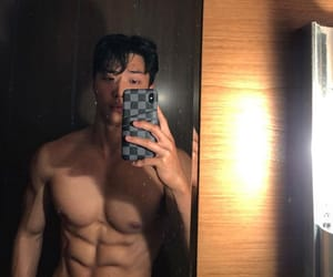 abs, asian boy, and Hot image