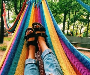 summer, aesthetic, and rainbow image