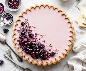 food, pie, and blackberry image