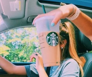 starbucks, summer, and car image