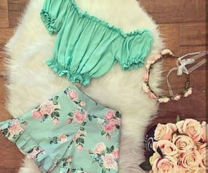 fashion, flores, and green image