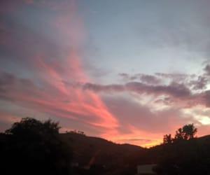 nuvem, por do sol, and céu image