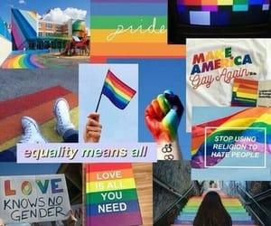 rainbow, wallpaper, and lgbt image