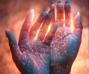 hands, art, and glitter image