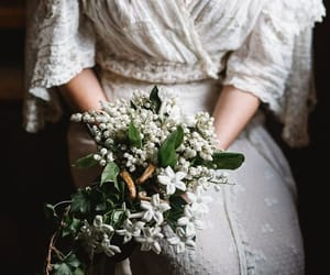 vintage, wedding, and bouquet image