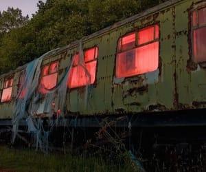 abandoned, creepy, and train image