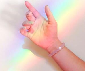 rainbow, pastel, and aesthetic image