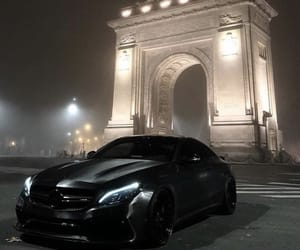 car, mercedes, and night image