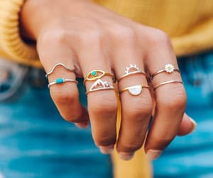 acessories, girl, and jewelries image
