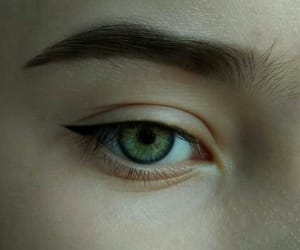 beauty, eyeliner, and green image