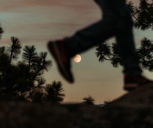 moon, photography, and walk image