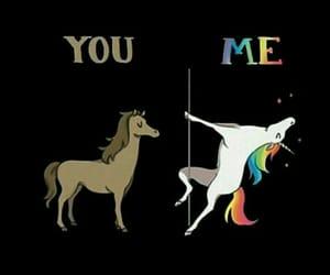 unicorn, horse, and rainbow image