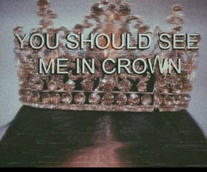 crown, billie eilish, and Lyrics image