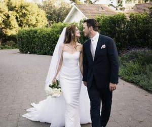 bridal, couple, and wedding image