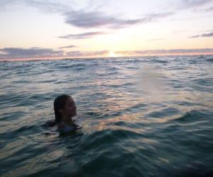girl, ocean, and beach image