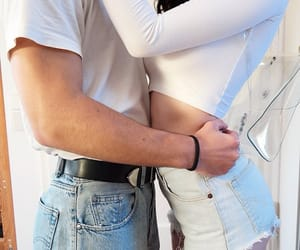 couples, jeans, and goals image