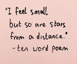 quotes, words, and stars image