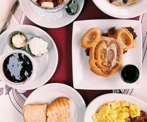 breakfast, disneyland, and food image