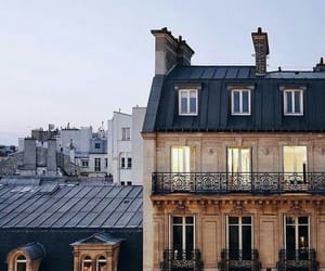 city, house, and paris image