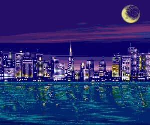 aesthetic, city, and digital art image