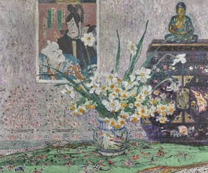 flowers, still life, and japanese print image