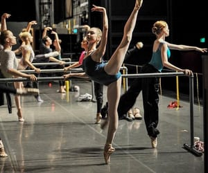 ballerinas, ballet, and warm up image