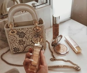 aesthetic, bag, and gold image