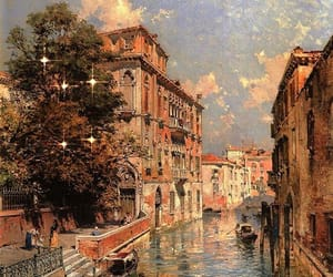 art, painting, and venice image