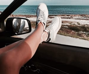 car, beach, and inspiration image