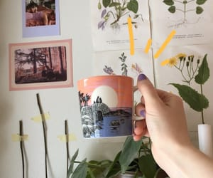 aesthetic, cup, and plants image