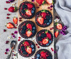 blueberries, strawberries, and chocolate image
