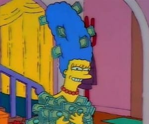 marge, money, and simpsons image