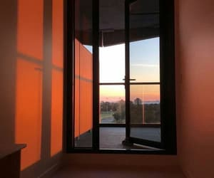 aesthetic, orange, and sun image