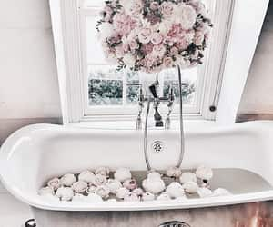 aesthetic, pink, and bath image
