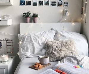 bed, home, and room image