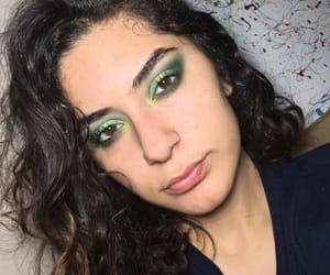 cosmetics, eyelashes, and green makeup image