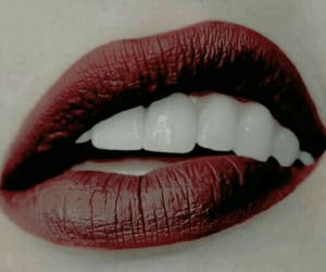 aesthetic, lips, and red image