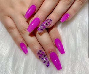 clear, hand, and long nails image