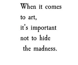 art, quotes, and madness image