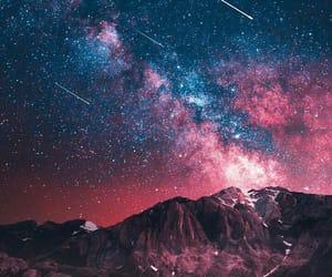 stars, galaxy, and pink image