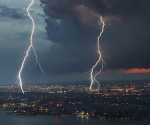 wallpaper, city, and storm image