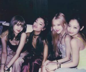 blackpink, ariana grande, and lisa image
