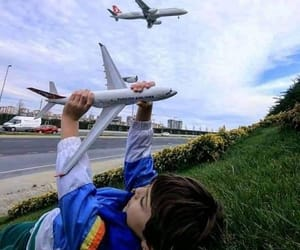 aviation, child, and fly image